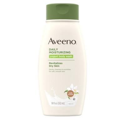 Body Washes & Gels: Aveeno Daily Moisturizing Yogurt Body Wash