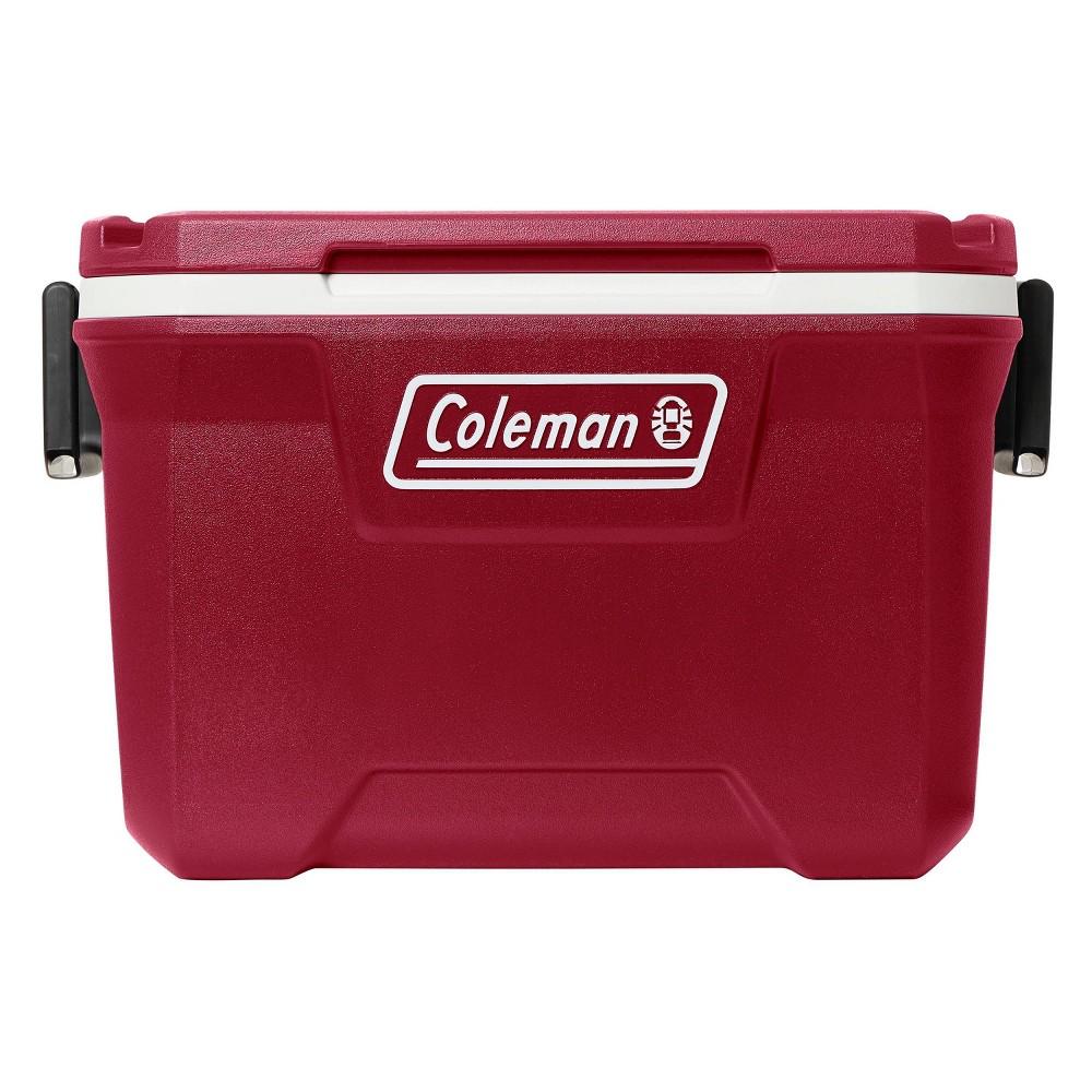 Coleman 52 Quart Hard Ice Chest Cooler Mahogany Red