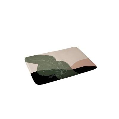 Aleeya Jones Boho Print Memory Foam Bath Mat Beige/Green - Deny Designs