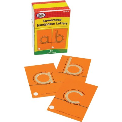 Didax Special Needs Fine Lowercase Tactile Sandpaper Letters, Gr PreK-1, set of 28