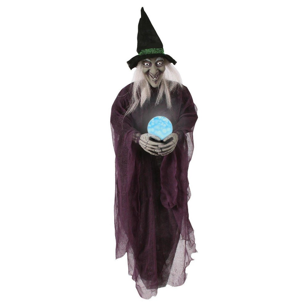 "Image of ""Halloween 36"""" Witch with Crystal Ball"""
