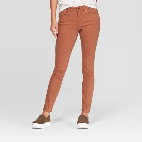 Women's High-Rise  Skinny Jeans - Universal Thread™ Brown - image 1 of 4