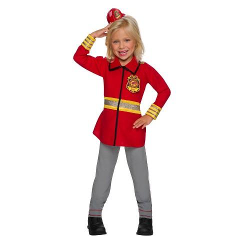Girls Barbie Firefighter Halloween Costume Target