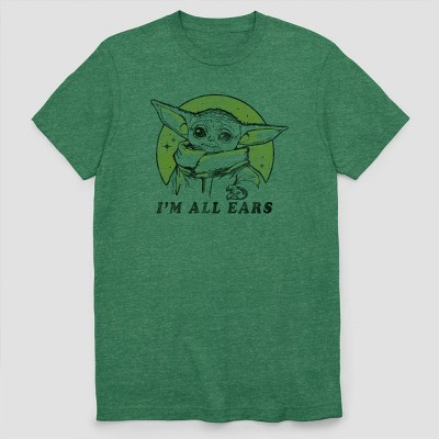 Men's Star Wars The Child 'I'm All Ears' Short Sleeve Graphic Crewneck T-Shirt - Green