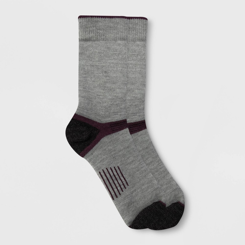 Image of Alaska Knits Women's Hiker Wool Blend Crew Boot Socks - Light Gray 4-10, Women's, Size: Small