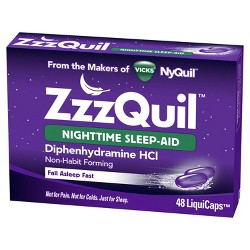 ZzzQuil Nighttime Sleep-Aid LiquiCaps - Diphenhydramine HCl - 48ct