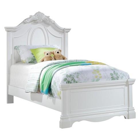 buy popular 73411 2cc8f Estrella Kids Bed - White(Twin) - Acme