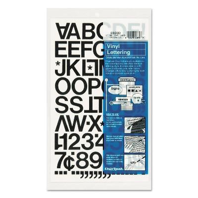 "Chartpak Press-On Vinyl Letters & Numbers Self Adhesive Black 1""h 88/Pack 01030"