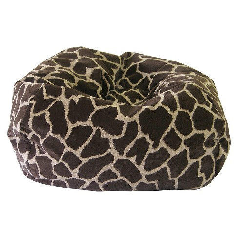 Fabulous Gold Medal Microsuede Extra Large Safari Micro Fiber Suede Bean Bag Giraffe Theyellowbook Wood Chair Design Ideas Theyellowbookinfo
