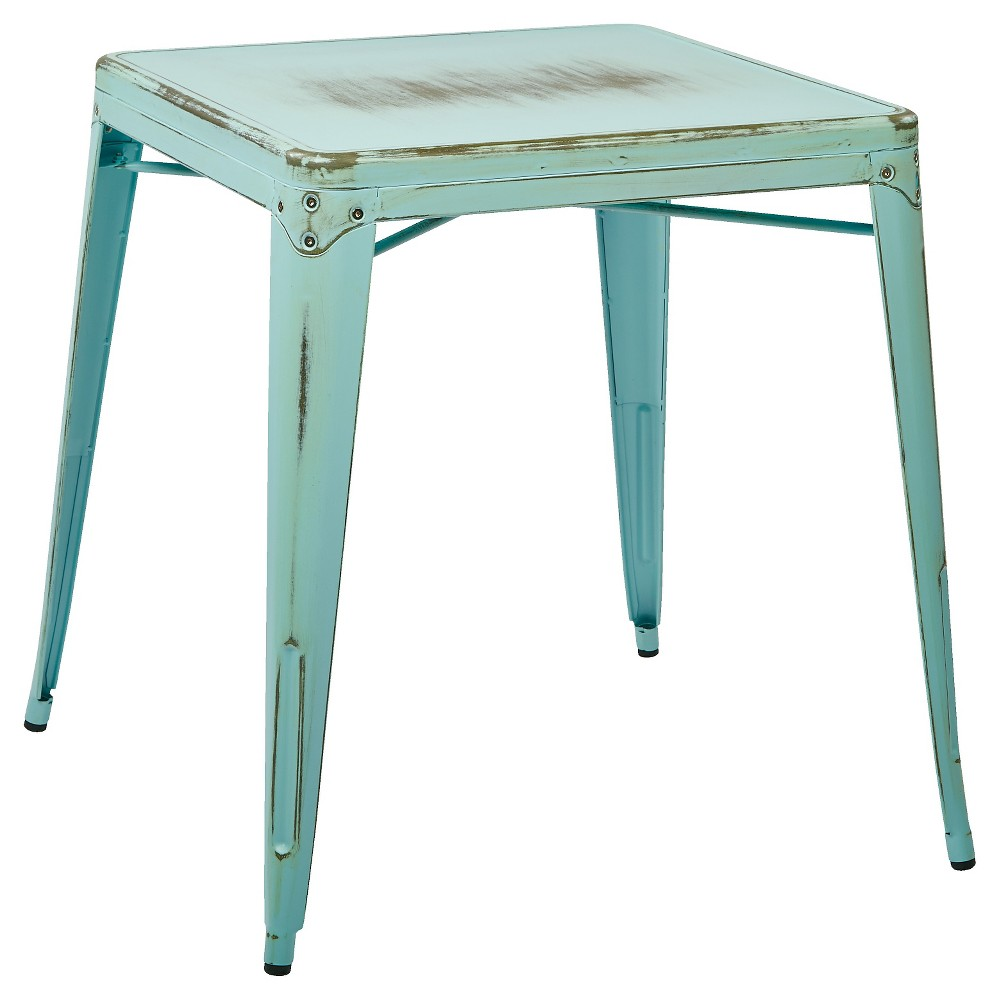 Bristow Antique Metal Table Sky Blue - Osp Home Furnishings