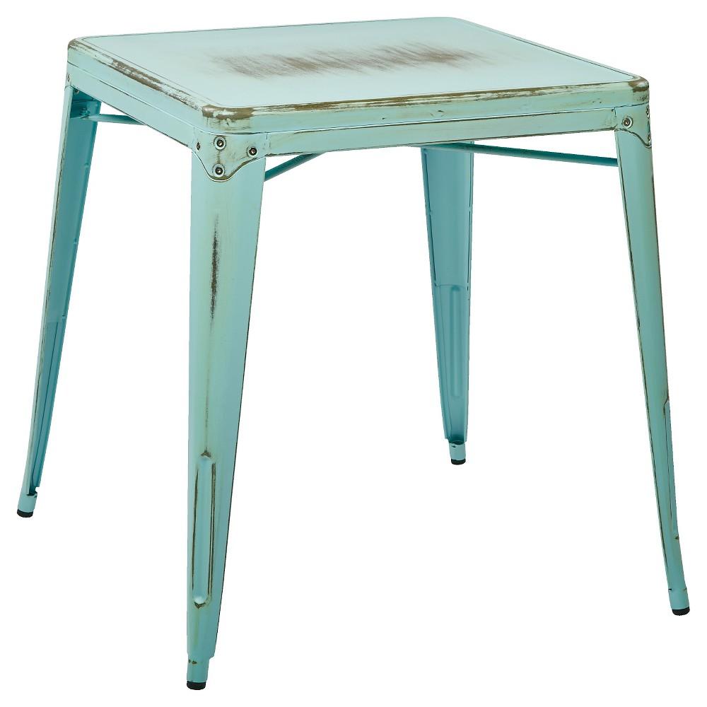 Osp Designs Bristow Antique Metal Table - Sky Blue