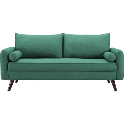 Carmel Mid Century Modern Sofa in Sea Foam - Lifestyle Solutions