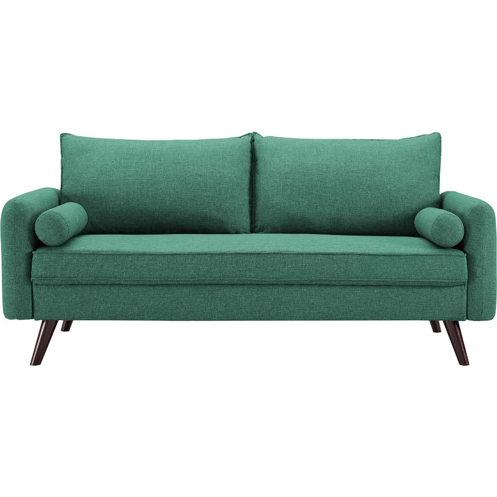 Image of Carmel Mid Century Modern Sofa in Sea Foam - Lifestyle Solutions, Blue