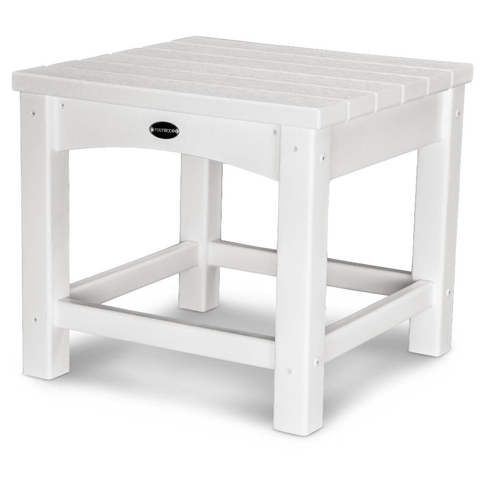 Polywood Vineyard 18 Side Table - White
