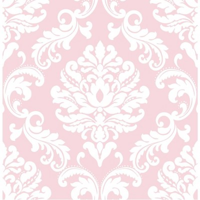 NuWallpaper Ariel Peel & Stick Wallpaper Pink