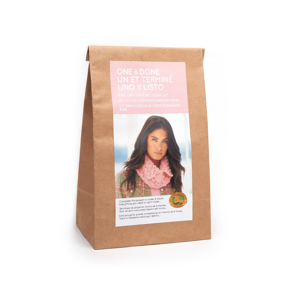 Lion Brand Yarn Kit Split Cowl - Pink