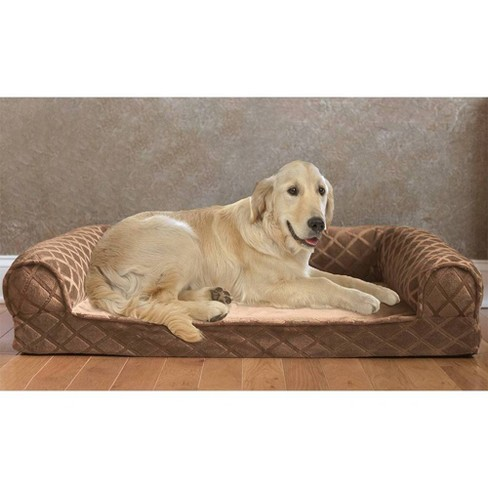 Wondrous Arlee Home Fashions Orthopedic Rectangle Bolster Sofa And Couch Style Dog Bed Toasted Coconut 45X36 Inzonedesignstudio Interior Chair Design Inzonedesignstudiocom