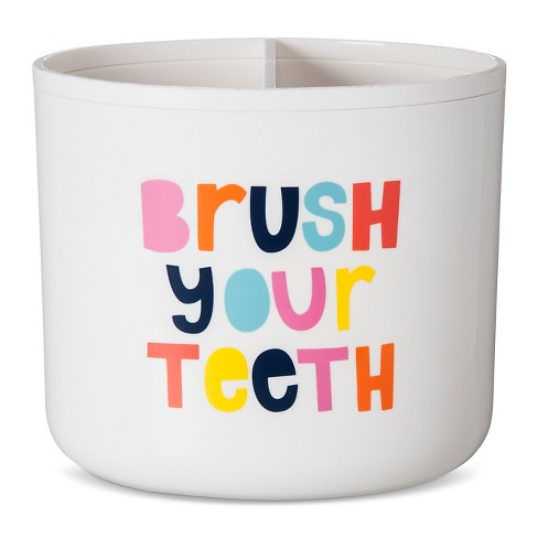 Brush Your Teeth Toothbrush Holder White - Pillowfort™ - image 1 of 2