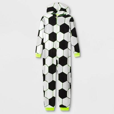 Boys' Soccer Union Suit - Cat & Jack™ White/Black XL