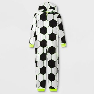 Boys' Soccer Union Suit - Cat & Jack™ White/Black S