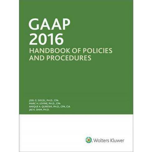 Gaap Handbook Of Policies And Procedures 2016 Target