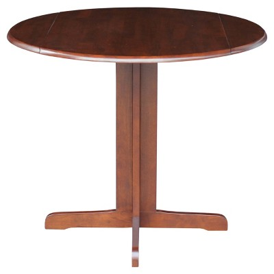 """Oval 36"""" Dual Drop Leaf Table - International Concepts"""
