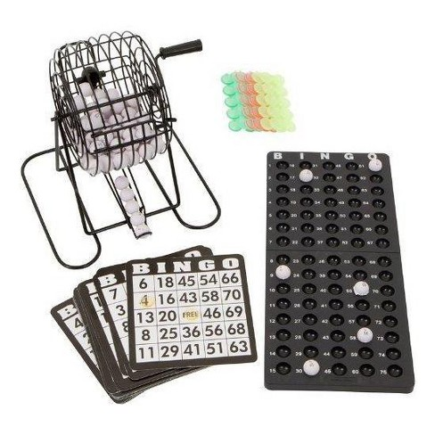 """Blue Ridge Novelty Bingo Set with 7"""" Cage and Bingo Balls/Ball Rack/18 Cards and Chips - image 1 of 1"""