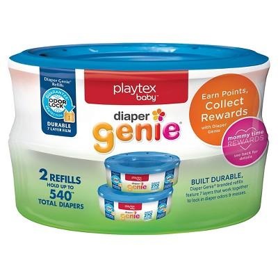 Playtex Baby Diaper Genie Diaper Disposal Pail System Refills 2 Pack