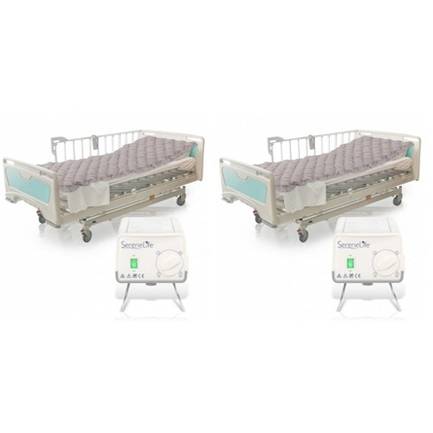 SereneLife Twin Size Self Inflatable Hospital Bed Medical Grade PVC Bubble Pad Air Mattress with Electric AC Pump (2 Pack) - image 1 of 4