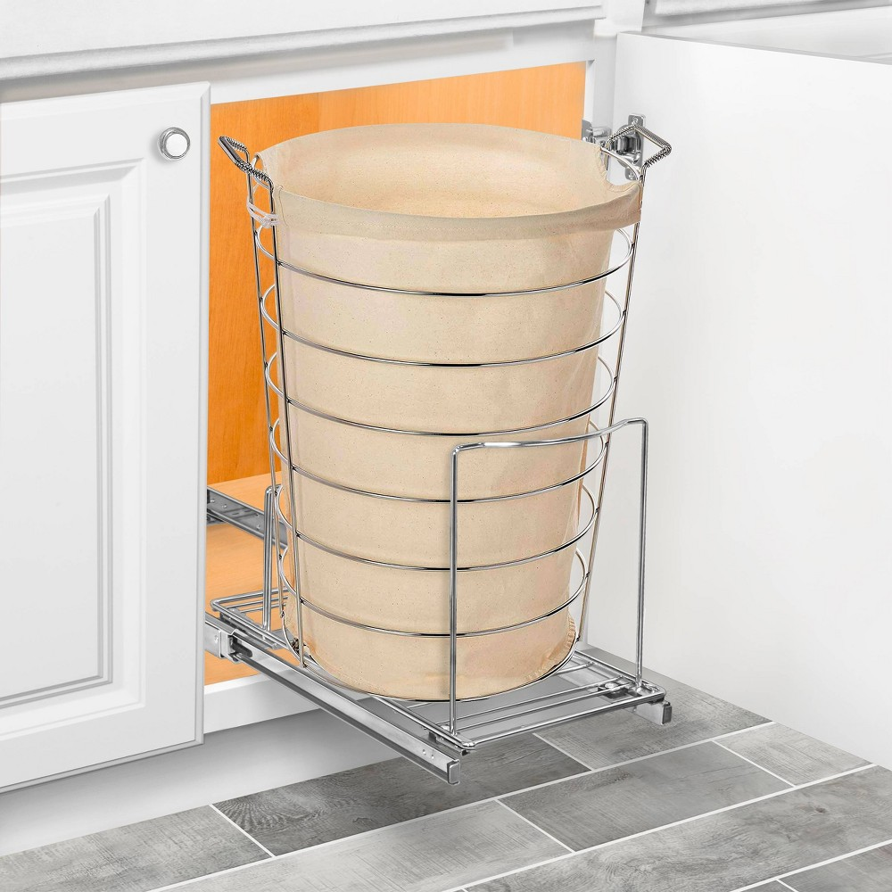 Image of Lynk Professional Pull Out Bin Holder - Sliding Cabinet Organizer