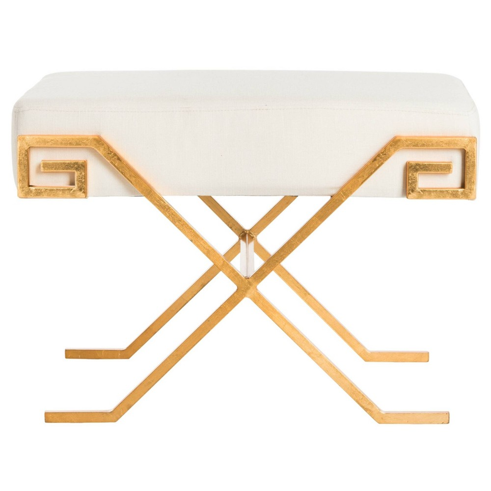 Luna Greek Key Bench - Light Beige - Safavieh