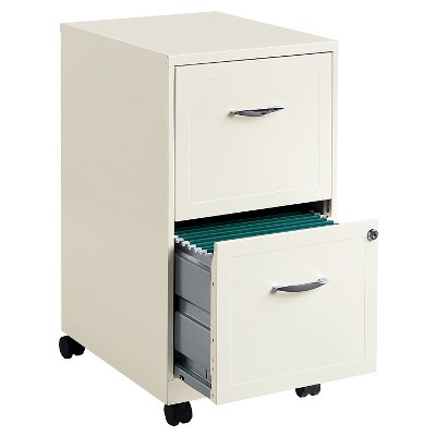 Superieur Hirsh Industries® Space Solutions File Cabinet On Wheels, 2 Drawer   Pearl  White