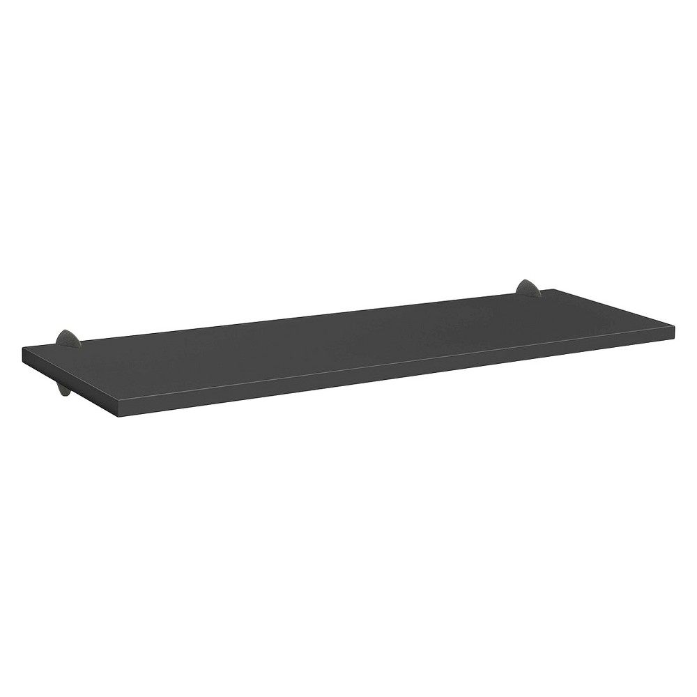 "Image of ""Black Sumo Shelf With Black Ara Supports - 45""""W x 12""""D, Size: 45 x 12"""""""