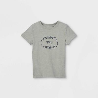 Toddler Boys' 'Everybody Love Everybody' Graphic Short Sleeve T-Shirt - Cat & Jack™ Medium Heather Gray