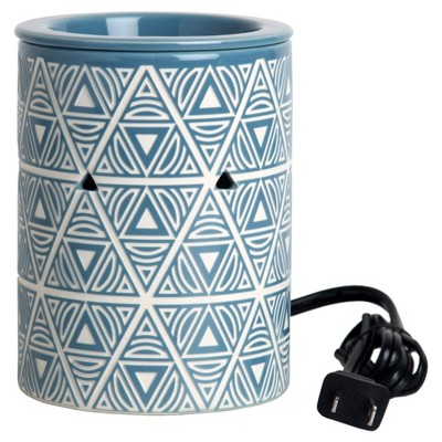 Scalloped Electric Fragrance Warmer Tan/Blue - Home Scents By Chesapeake Bay Candle