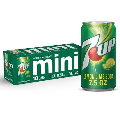 7UP Lemon Lime Flavored Soda - 10pk/7.5 fl oz Mini Cans