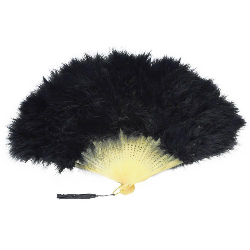 Image of Fan Marabou Feather, Black
