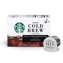 Starbucks Cold Brew Concentrate Black - 8.1oz