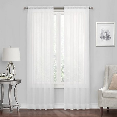 Kate Aurora Premium Rod Pocket Sheer Voile Window Curtain Panel