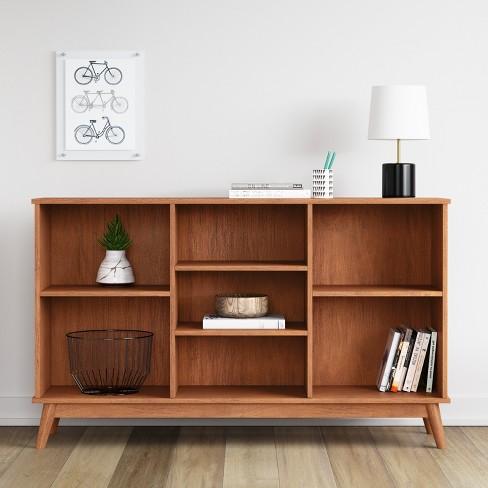 Amherst Mid Century Modern Horizontal Bookcase
