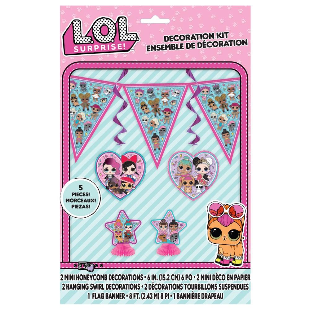 L.O.L. Surprise! 5ct Decor Kit - Unique Industries, Multi-Colored