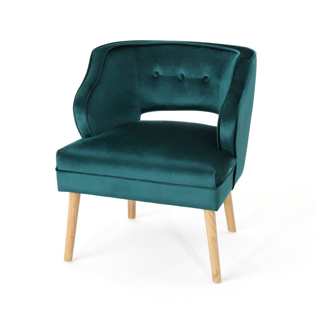Mariposa Mid Century Accent Chair Teal (Blue) - Christopher Knight Home
