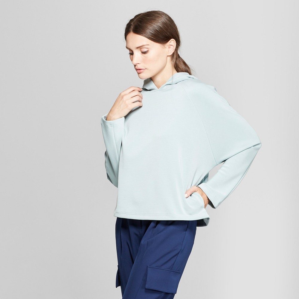 Women's Long Raglan Sleeve Hooded Sweatshirt - Prologue Blue S
