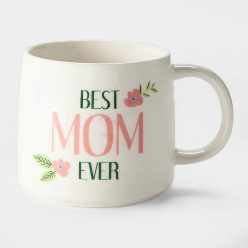 17oz Porcelain Best Mom Ever Mug White - Threshold™ - image 1 of 2