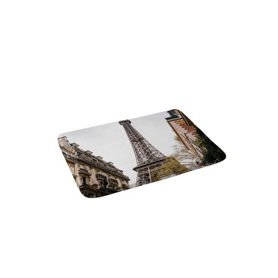 Bethany Young Photography Eiffel Tower Memory Foam Bath Mat Brown - Deny Designs
