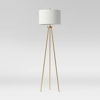 Ellis Tripod Floor Lamp Brass/White - Project 62™
