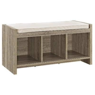 Exceptionnel Hendland Entryway Storage Bench With Cushion Distressed Gray Oak   Room U0026  Joy : Target