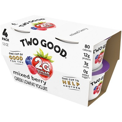 Two Good Mixed Berry Greek Yogurt - 4pk/5.3oz Cups
