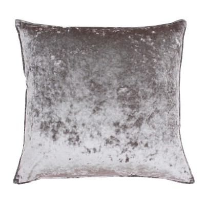 Ibenz Ice Velvet Oversize Square Throw Pillow Gray - Décor Therapy
