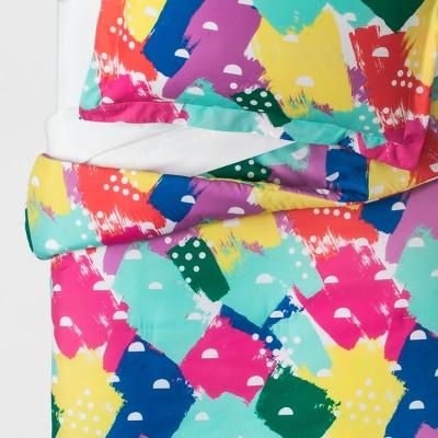 Full Queen Brush On Brights Comforter Set Pillowfort Target